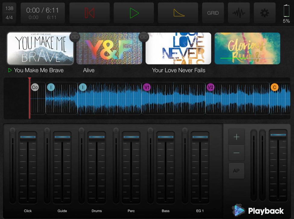 Multitrack.com app - screen shot